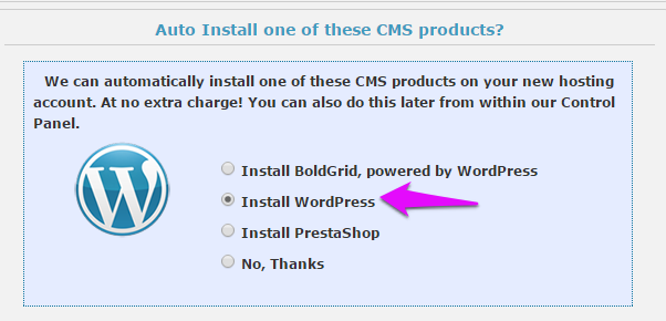 WebHostingHub One Click Install