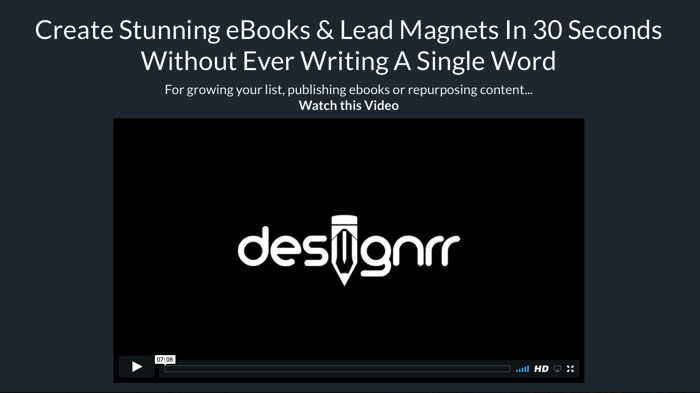 Designrr Create Lead Magnets