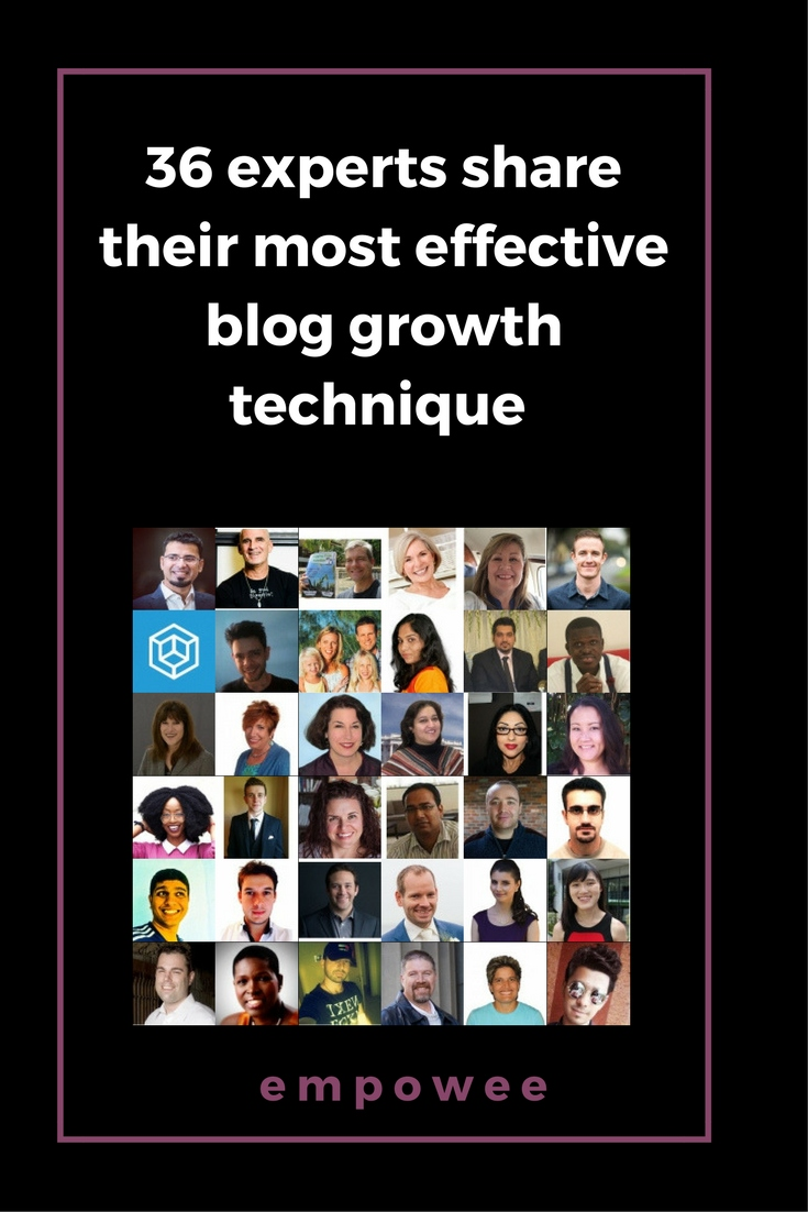 Blog growth technique: I asked 37 experts to share one blog growth technique to help beginner bloggers and here's what they said.